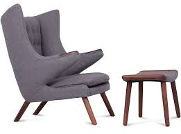 replica papa bear chair with optional ottoman by hans wegner