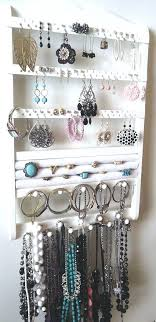wall mounted earring holder gorgeous white jewelry holder wall mount earring rack ring storage bracelet display