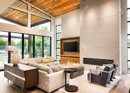 Vaulted Ceiling Living Room Living Room Interior With Hardwood Floors Vaulted Ceiling And