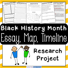 a black history month research project teaching made practical black history month research project