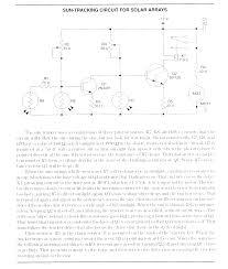 solar tracker schematics solar sun