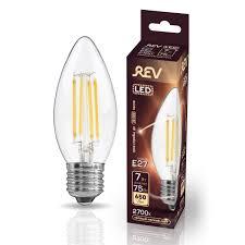 Светодиодная <b>лампа REV FILAMENT свеча</b>, C37, E27, 7W, 2700K ...