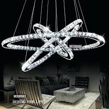 crystal ring chandelier 1 circle diamond ring led re crystal day light modern pendant crystal 3