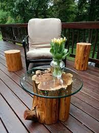 diy tree stump table ideas how to