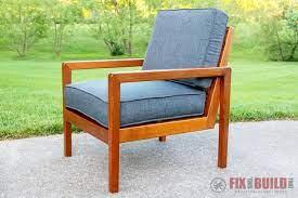 modern diy outdoor chair from cedar