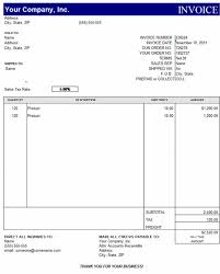 Invoice Template Excel Madinbelgrade