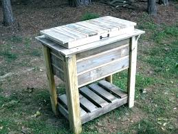 full size of outside wood coolers outdoor cooler cart deck canada wooden plans home improvement beautiful