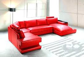 red leather sectional couch sofa with recliner beneficial for sleeper se
