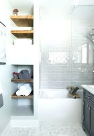 built in bathroom wall storage. Contemporary Bathroom Amusing Built In Wall Shelves Bathroom Decoration  View Gallery Open Shelving   Inside Built In Bathroom Wall Storage