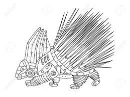 Puercoesp N Estilo Steampunk Animales Mec Nica Libro De Colorante