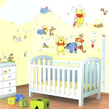 pooh nursery ideas splendid decor baby girl decorating wall stickers the room yellow