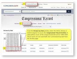 Accessing the Congressional Record Archive - Congress.gov Resources -