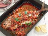 baked fish with ratatouille