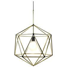 copper diamond cage pendant light rough globe brass wire frame geometric for master