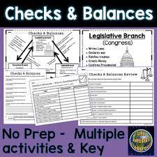 Checks And Balances Chart Answer Key Checks And Balances Chart And Activities