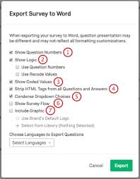 Survey Forms In Word Delectable Import Export Surveys Qualtrics Support