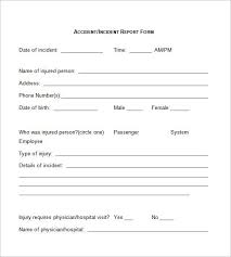 what is an incident report incident report form template word templates