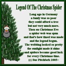 View topic - Poem & Tag: Legend of the Christmas Spider