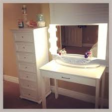 ikea malm dressing table with round mirror and lights makeup vanity for a perfect makeup style