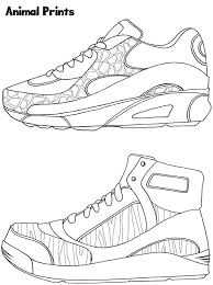 sneaker designs coloring book dover publications