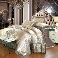 cotton duvet cover queen gold silver coffee jacquard luxury bedding set queen king size stain bed
