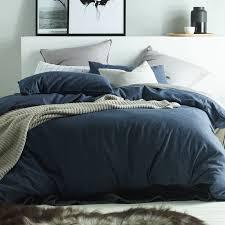 Quilt Cover Sets | Temple & Webster & Dark Denim Linen & Cotton Quilt Cover Set Adamdwight.com