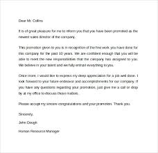 Cover Letters For Promotion Sample Promotion Offer Letter Template