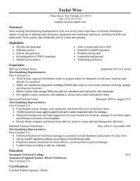 Best Merchandising Representative Resume Example Livecareer