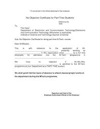 Noc Letter Format From Employer Doc 2582812750561 Format Of Noc