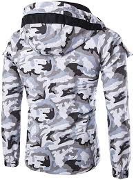 WSLCN <b>Mens</b> Military Jacket Camouflage Zipper Hooded Jackets ...