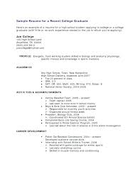 Example Resumes For College Students Interesting Example Of Student Resume With No Experience Sample Resumes With No