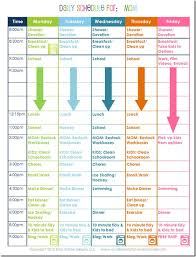 30 Meticulous Daily Routine Time Table Chart