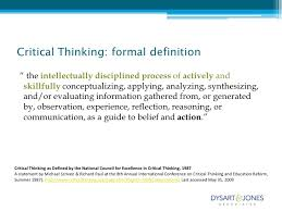 thinking strategically critically seeing possibilities critical