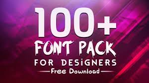 Fonts For Logo Designing Free Download Amazing 100 Font Pack For Designers Free Download By Sanczodesign