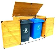 outdoor trash can enclosure garbage storage ideas bin sheds bins home depot
