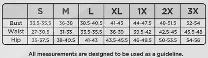 Spanx Size Chart Spanx Size Chart