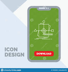 Chart Mobile Plan Algorithm Business Foretelling Pattern Plan Line Icon In