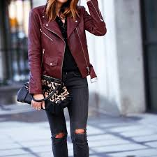 burdy leather jacket outfit