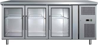 bromic ubc1795gd 3 door glass door gastronorm underbar fridge