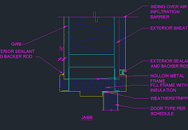 door jamb detail. Plain Detail Exterior Door Frame Jamb Detail  CAD Files DWG Files Plans And Details With T