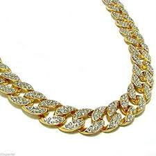 mens iced out 14k yellow gold finish rapper s miami cuban link chain 15mm 30 necklace