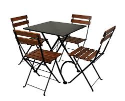 outdoor cafe chairs. Amazon.com : Mobel Designhaus French Café Bistro Folding Side Chair, Jet Black Frame, European Chestnut Wood Slats With Walnut Stain (Pack Of 2) Patio Outdoor Cafe Chairs