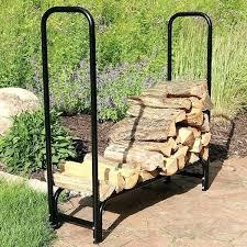 outdoor log rack black steel outdoor firewood storage holder log rack 4 foot small outdoor firewood