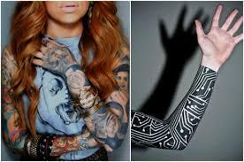Rukáv Na Pravé Ruce ženské Tetování Rukávy Hodnota A Fotografie