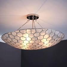 capiz flush mount light shell large