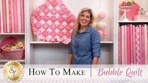 How to Make a Bubble Quilt | with Jennifer Bosworth of Shabby ... & How to Make a Bubble Quilt | with Jennifer Bosworth of Shabby Fabrics -  YouTube Adamdwight.com
