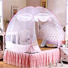 Girls Canopy Bed Full Size Princess Hot Selling Blue Mosquito Net ...