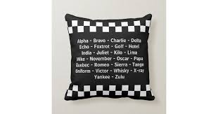 Law enforcement officers use the phonetic alphabet in this printable police guide for communicating over the air. Police Officer Phonetic Alphabet Radio Call Throw Pillow Zazzle Com