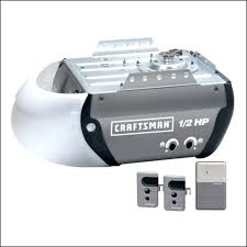 craftsman 1 2 hp garage door opener remote control