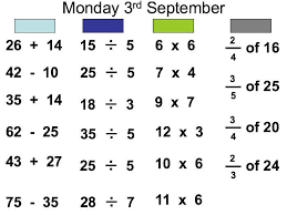 mental maths powerpoints x 25 set 1
